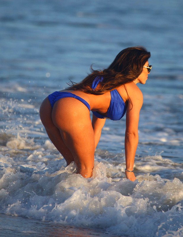 Carmen Ortega At The Beach In Malibu