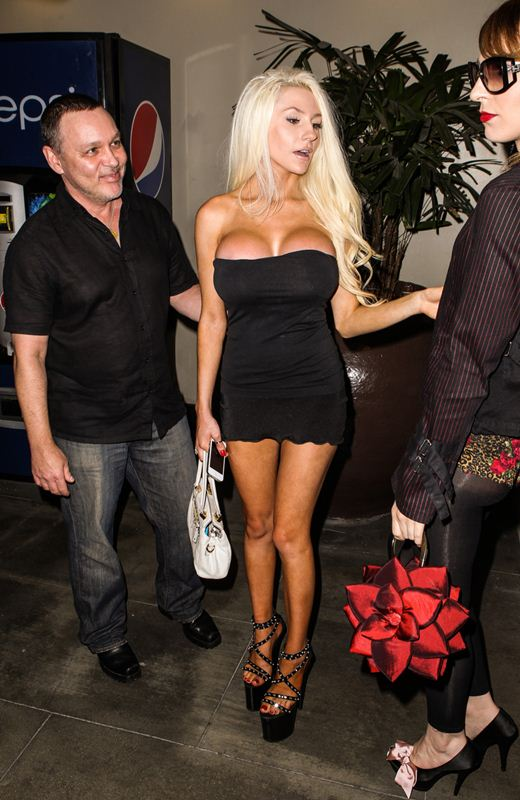 Courtney Stodden and husband Doug Hutcherson leaving The Hard Rock Cafe in Hollywood
