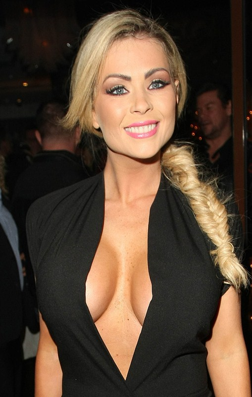 Nicola Mclean arriving at the Now Party
