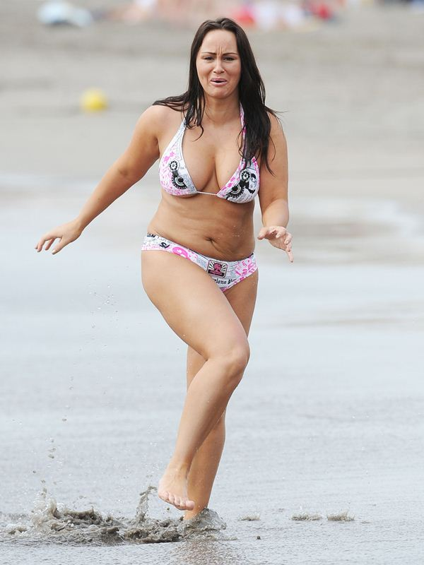 Exclusive... Chanelle Hayes Looking Chunky While On Holiday