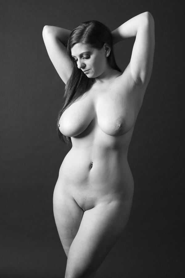 black and white plus size model nudes