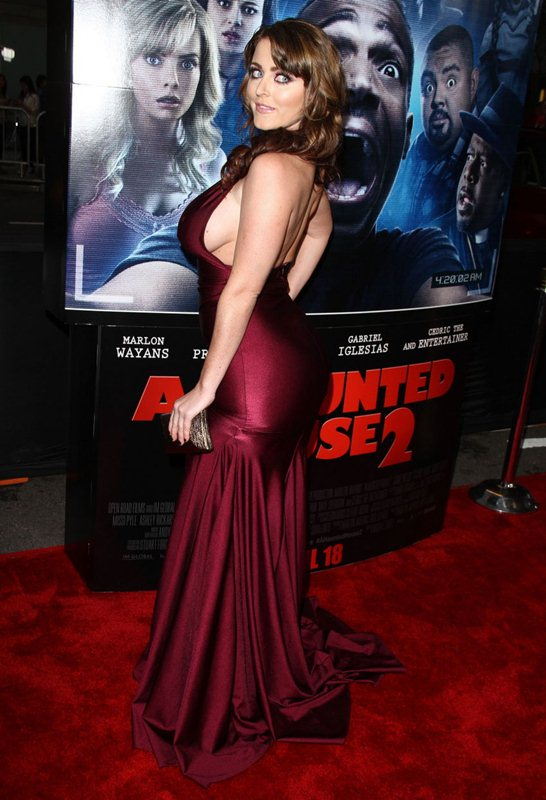 Kirsty Hill attends the premiere of 'A Haunted House 2' in LA