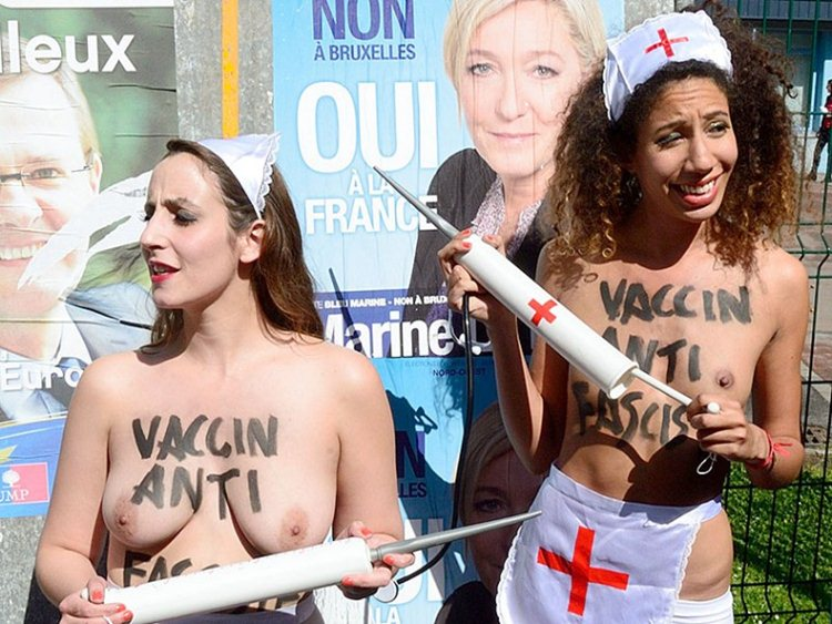 Topless-Members-Of-FEMEN-Protest-A-Front-National-Polling-Station-In-Henin-Beaumont-Kanoni-2