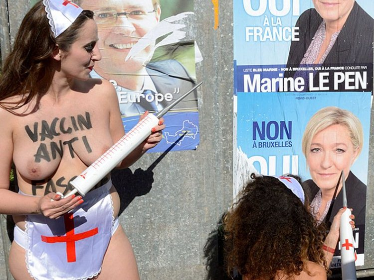 Topless-Members-Of-FEMEN-Protest-A-Front-National-Polling-Station-In-Henin-Beaumont-Kanoni-5