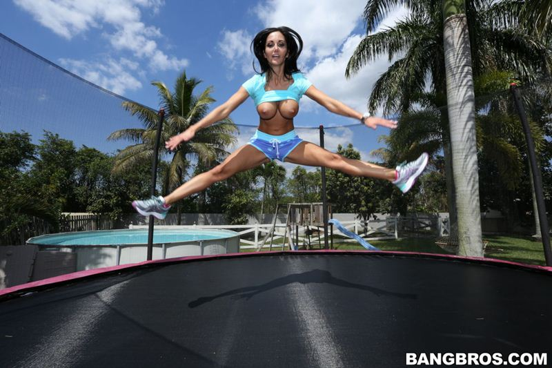 You'll take an eye out valleys girls flaunt chests in topless trampolining