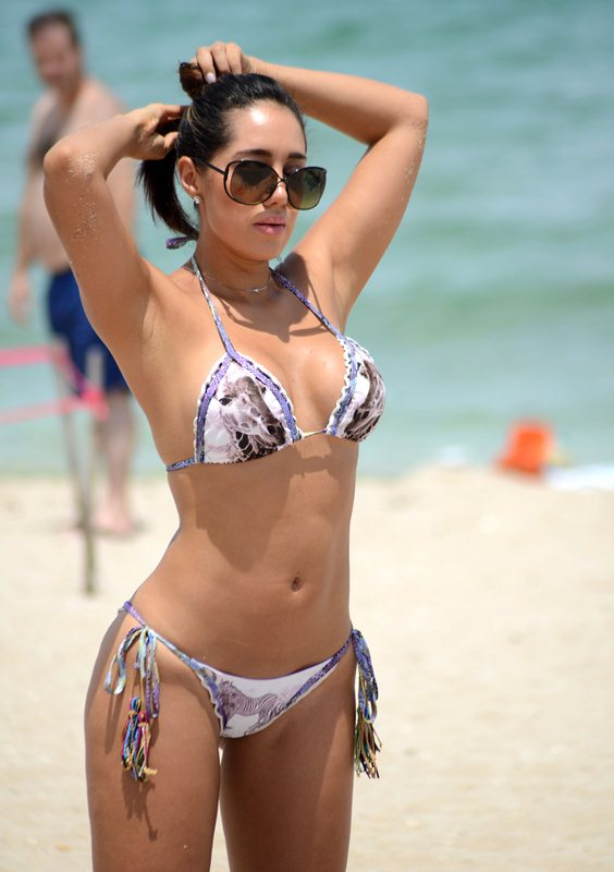Exclusive... Andrea Calle Shows Off Her Bikini Body In Miami