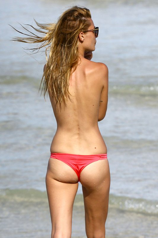 Sveva Alviti Goes Topless In Miami