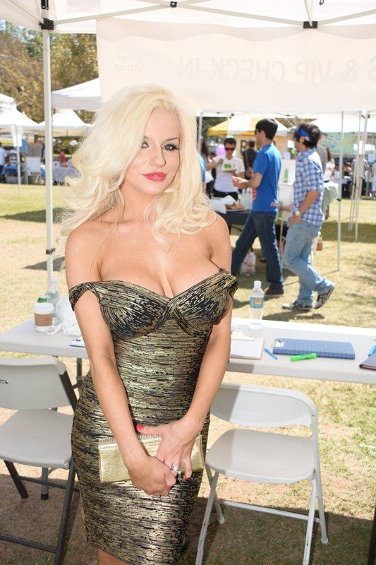 Courtney Stodden and Doug Hutchison are still going strong as the couple attend the Feline Film Festival
