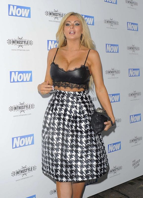 Nicola-McLean-Busty-Now-Christmas-Party-2014-London-Kanoni-4