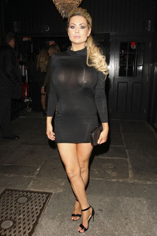 Nicola-McLean-Braless-See-through-Sugar-Hut-Brentwood-Kanoni-1