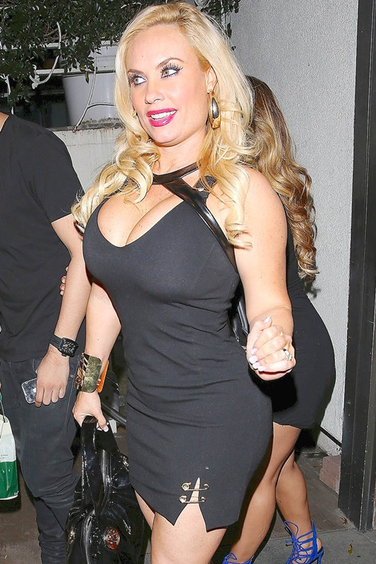 Ice T and wife Coco were seen leaving Madeo restaurant after dinner