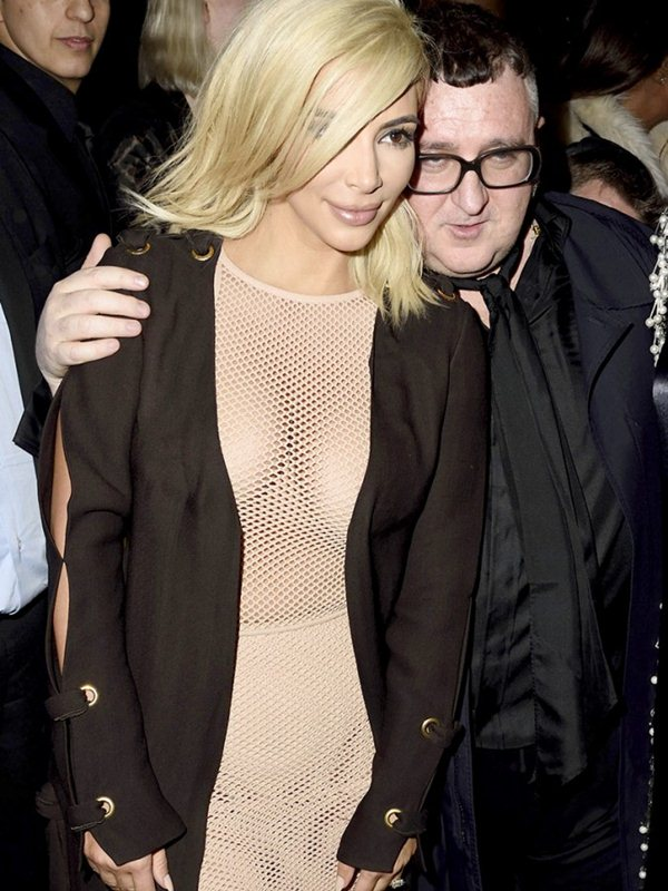 Kim-Kardashian-Blonde-Big-Cleavy-See-Through-Dress-Paris-Kanoni-6
