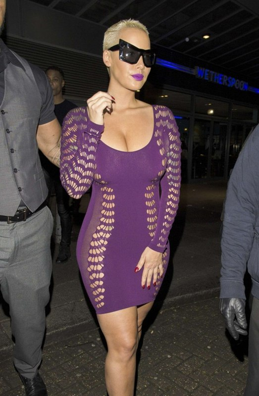 Amber-Rose-in-Tight-Purple-Dress-Kanoni-6