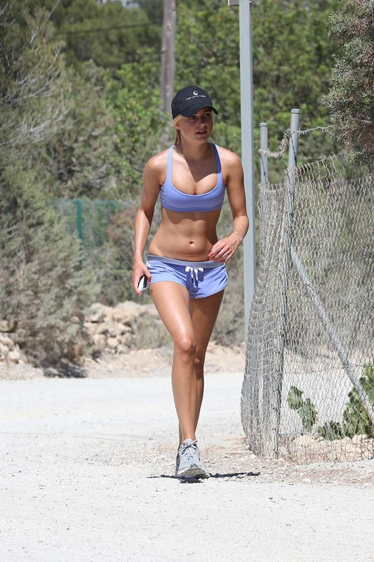 Kimberley Garner On Island of Ibiza