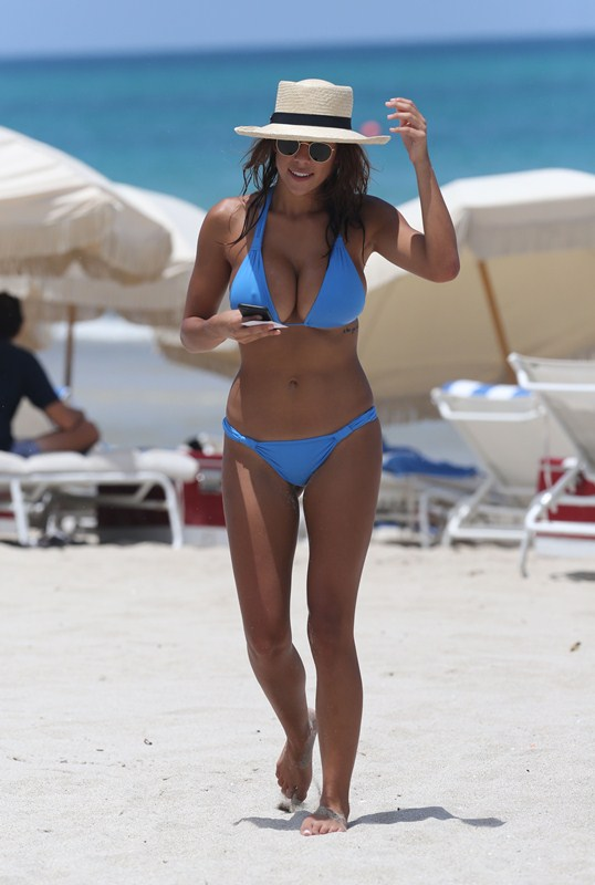 Natasha Oakley and Devin Brugman enjoying their vacation in Miami