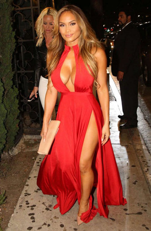 Daphne-Joy-in-Red-Dress-Night-Out-Hollywood-Kanoni-2