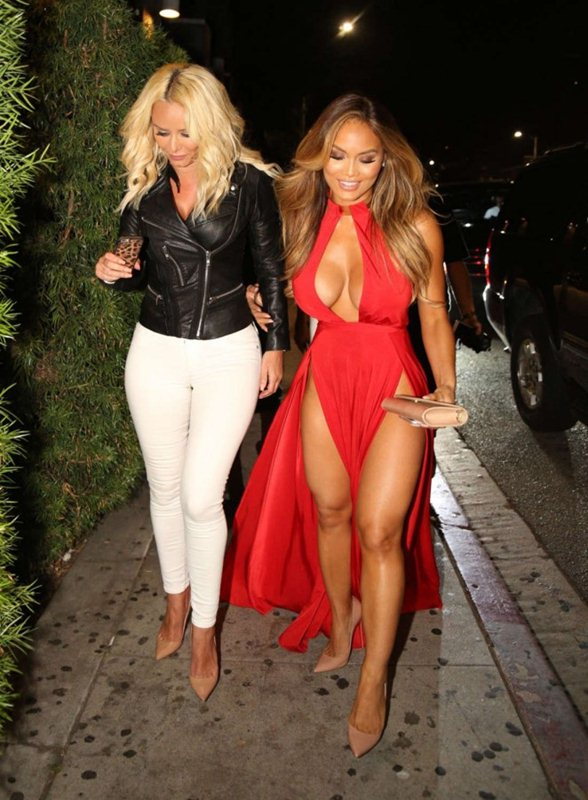Daphne-Joy-in-Red-Dress-Night-Out-Hollywood-Kanoni-3