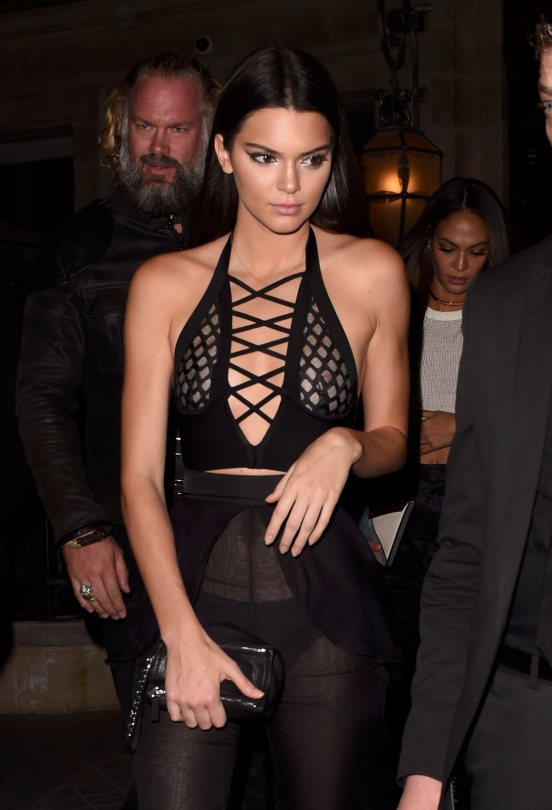 Kendall-Jenner-Hot-in-Black-See-Through-Paris-Kanoni-7