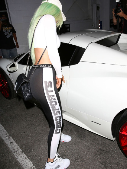 Kylie Jenner is spotted in see through pants