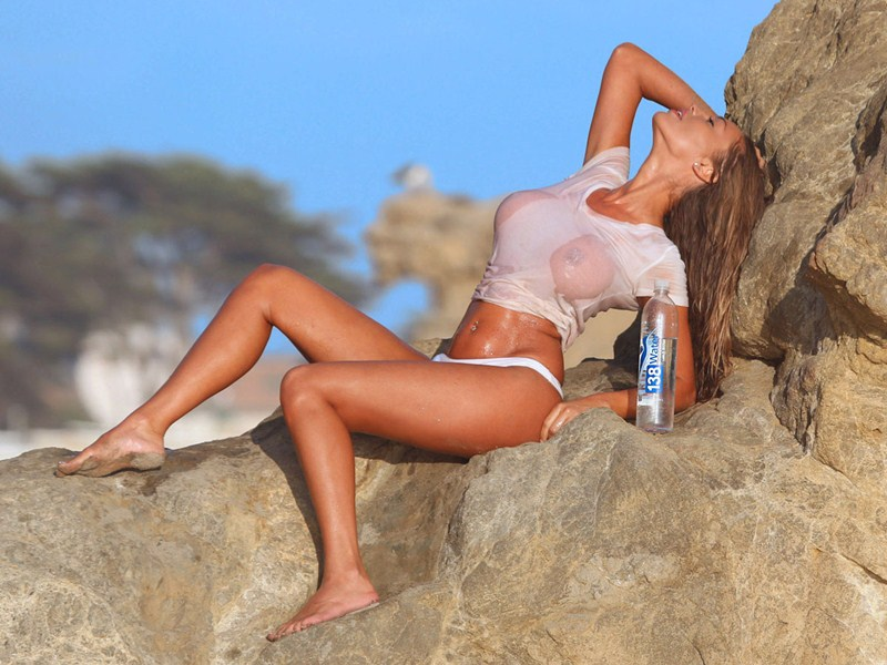 Canadian Model And International Playboy Playmate Charlie On the Set Of A 138 Water Shoot