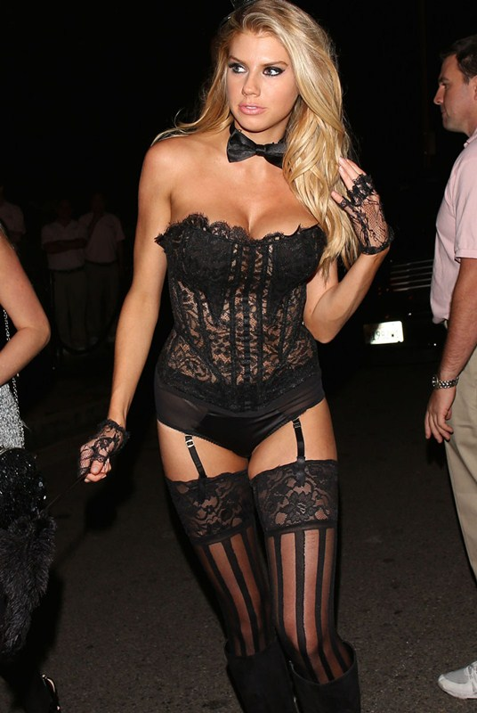 Charlotte McKinney busts out at the Casa Amigos Halloween Party