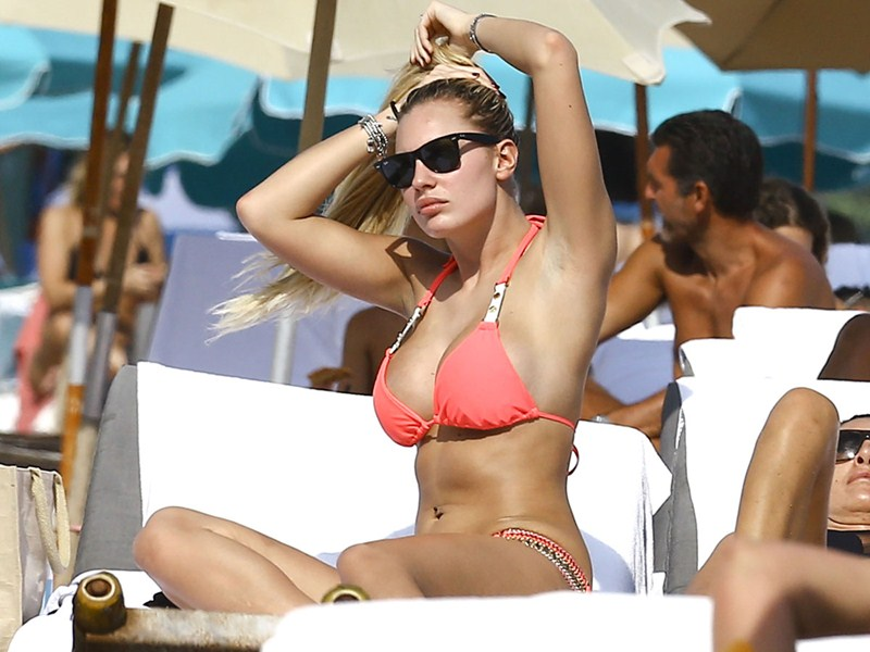 Francesca Brambilla At The Beach In Miami