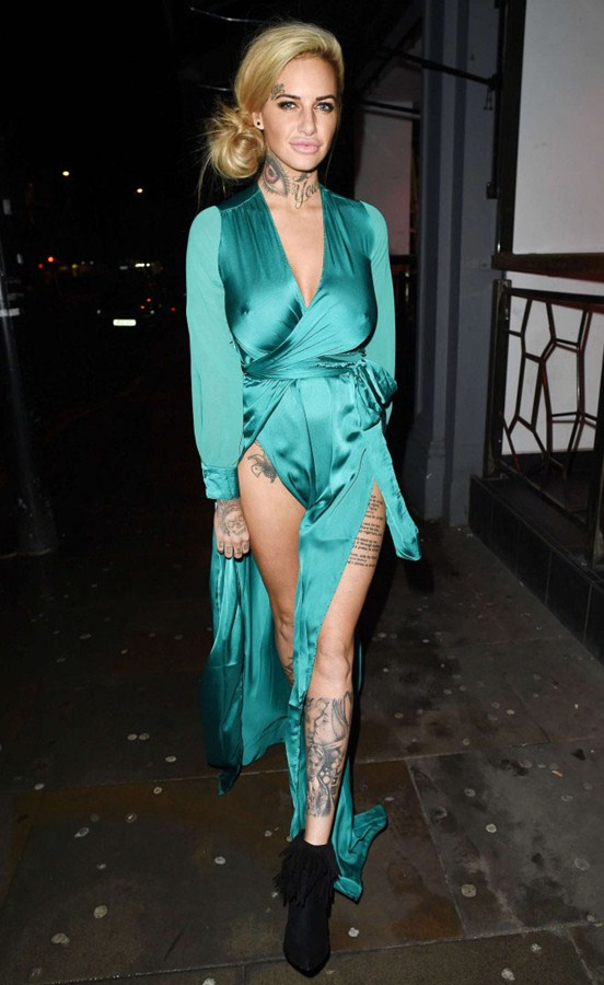 Jemma-Lucy-in-Green-Dress-Night-Out-Manchester-Kanoni-1