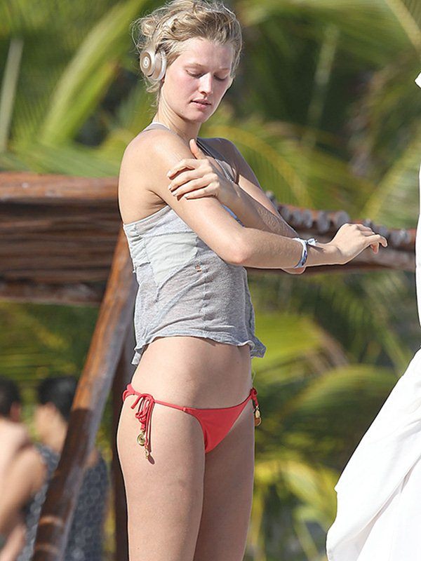 Exclusive... Toni Garrn Enjoys A Day Of Topless Sunbathing In Mexico