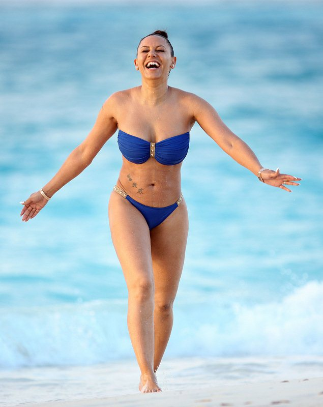 EXCLUSIVE: Mel B stuns but suffers a 'bikini malfunction' as she vacations in Turks & Caicos with her husband Stephen Belafonte. Part 2.