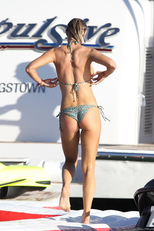 EXCLUSIVE: BACK TO REALITY?: Joanna Krupa and her husband Romain Zago are seen with a film crew as they host a wild party on a luxury yacht in Miami
