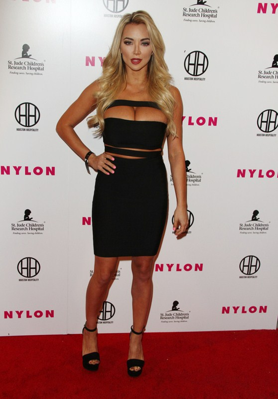 Lindsey Pelas attends The NYLON Music + Muses Pre Grammy Event in Los Angeles