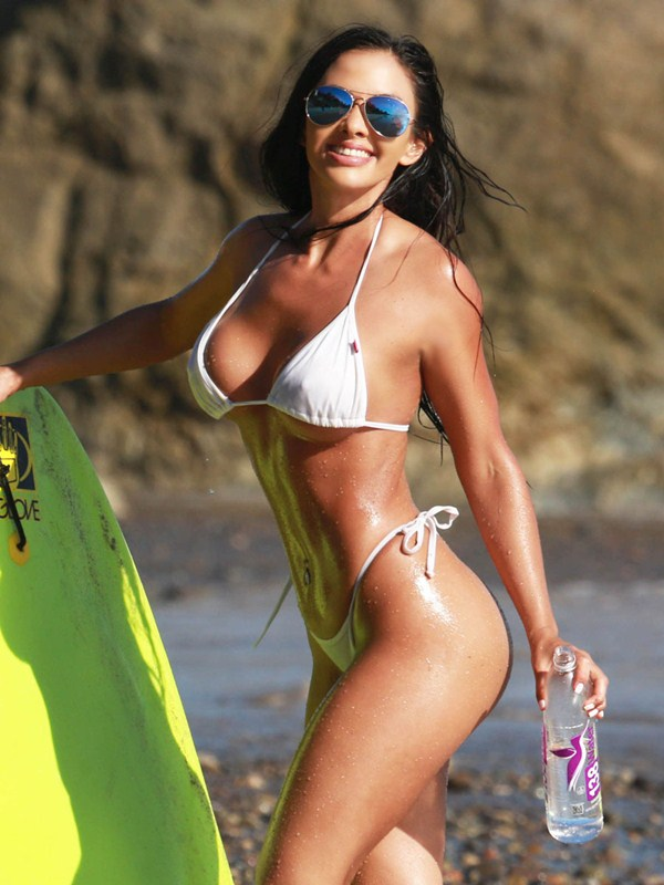 Val Fit enjoys doing a surf photoshoot in Malibu
