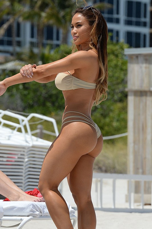 EXCLUSIVE: Daphne Joy shows off her curves in Miami Beach with her girlfriend as they take a dip in the sea