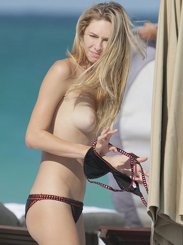 EXCLUSIVE: American model Brianna Addolorato topless in Miami
