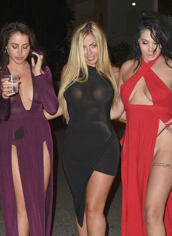 Holly-Hagan-Braless-Black-Dress-Night-Out-Agia-Napa-Kanoni-3