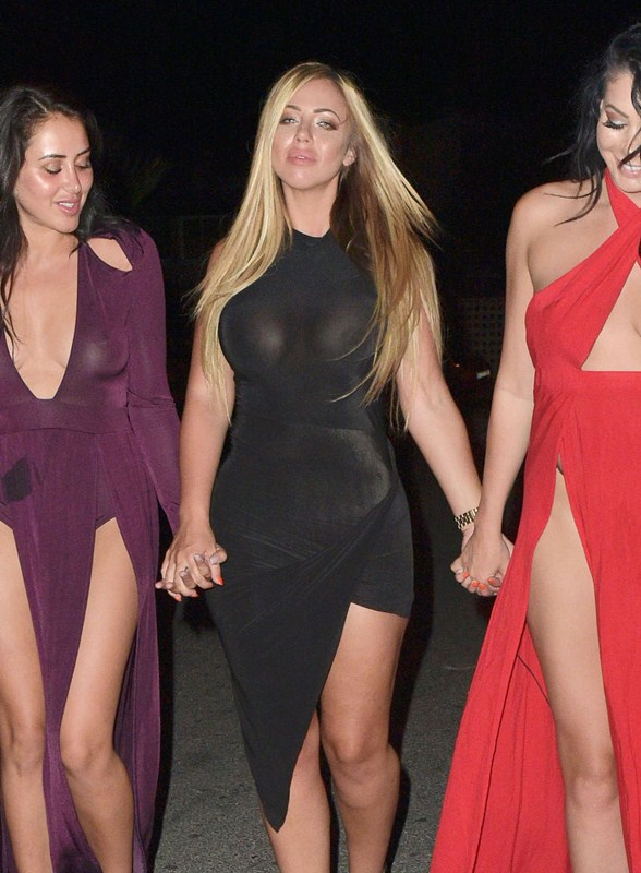 Holly-Hagan-Braless-Black-Dress-Night-Out-Agia-Napa-Kanoni-4
