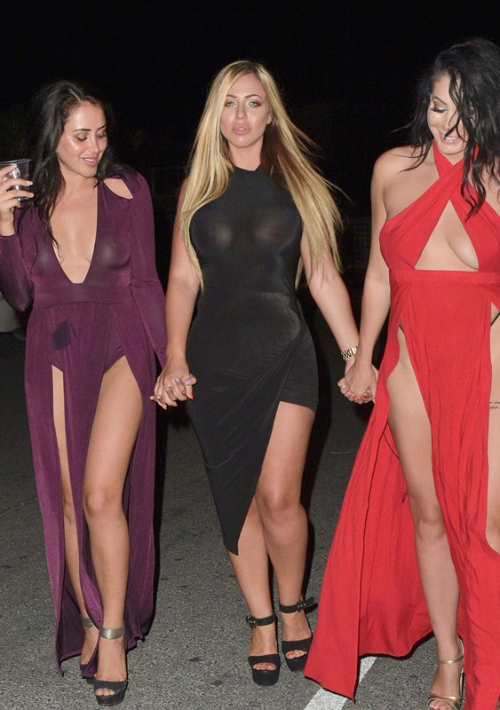 Holly-Hagan-Braless-Black-Dress-Night-Out-Agia-Napa-Kanoni-5