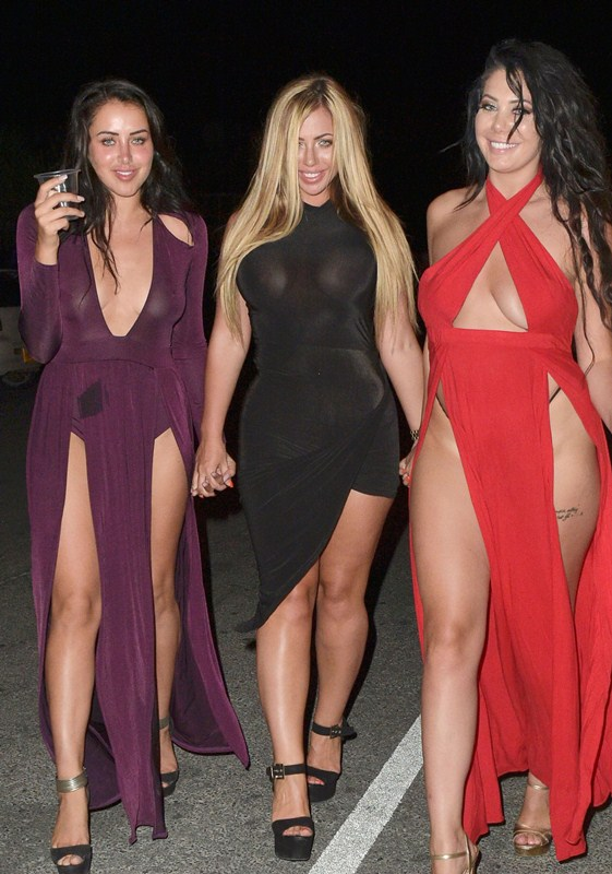 Holly-Hagan-Braless-Black-Dress-Night-Out-Agia-Napa-Kanoni-6