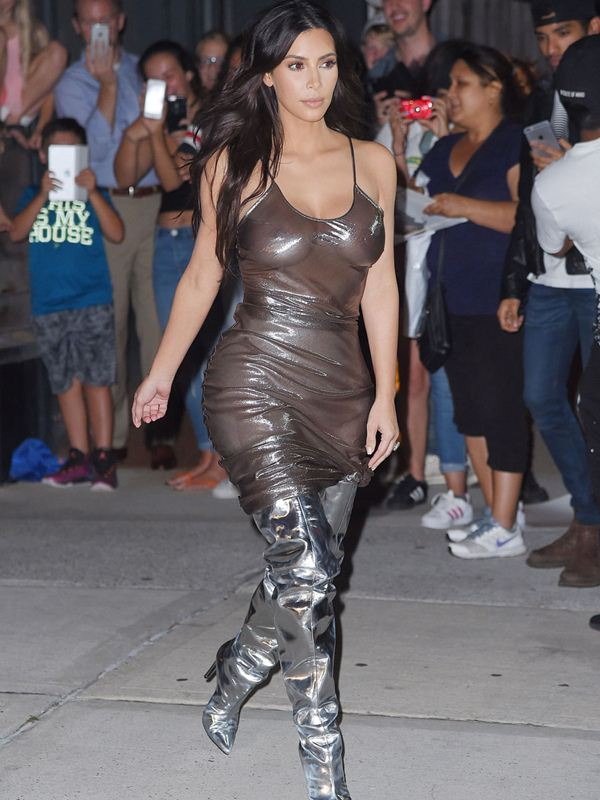 Kim Kardashian is see-through and sultry for Kanye's MSG show