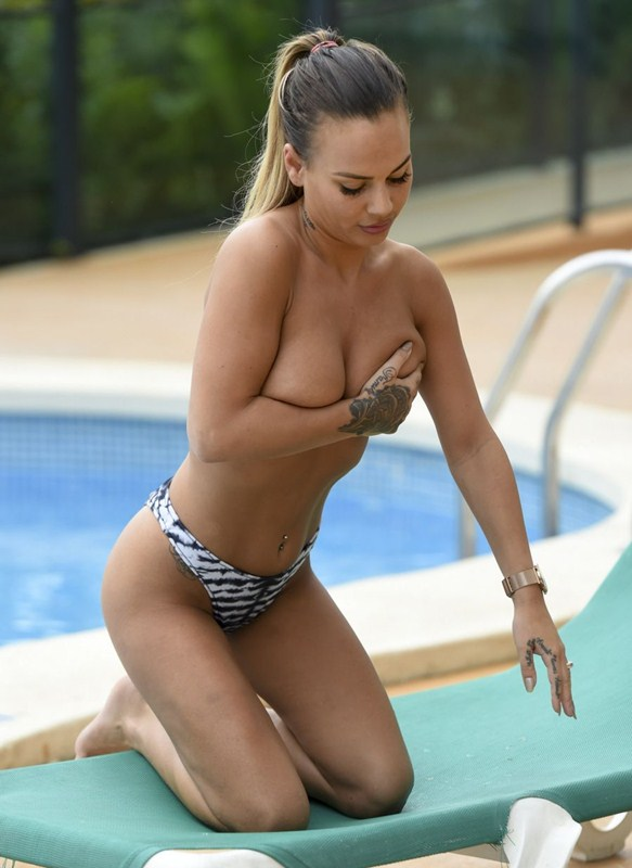 Chantelle Connelly seen chilling around the pool