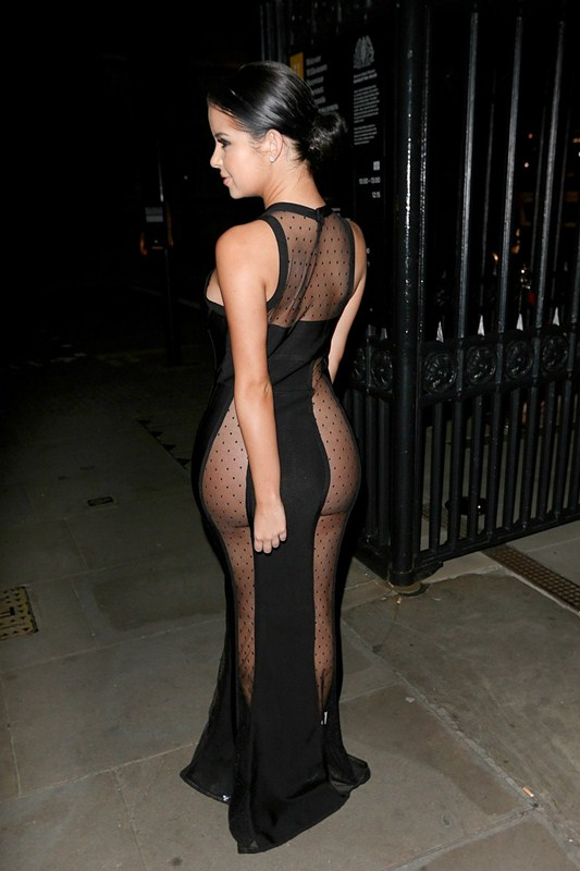 demi-rose-no-underwears-black-see-through-dress-night-out-london-kanoni-6