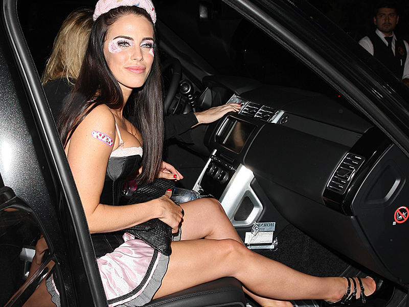 Jessica Lowndes is dressed up as a maid as she parties at Catch in West Hollywood
