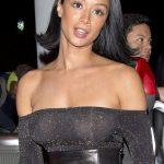 Η Draya Michele με see through top χωρίς σουτιέν σε βραδινή έξοδο στο West Hollywood